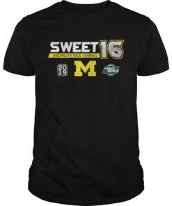 Guys Michigan Wolverines 2019 March Madness Sweet 16 shirt