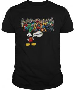 Guys Mickey mouse Marvel Endgame shirt