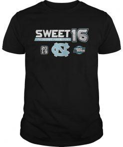 Guys North Carolina Tar Heels 2019 NCAA Basketball Tournament March Madness Sweet 16 shirt