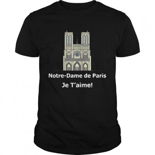 cd97d26da9dc5 Notre dame de paris Je T aime tshirt - Kingteeshop