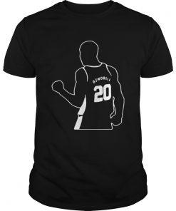Guys Official Gracias Manu Ginobili 20 shirt
