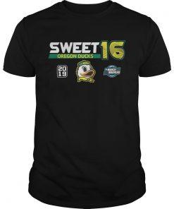 Guys Oregon Ducks 2019 NCAA Basketball Tournament March Madness Sweet 16 shirt