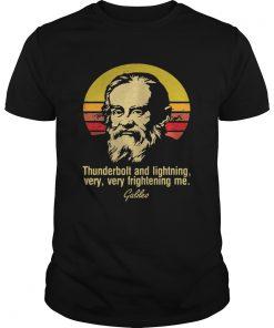 Guys Thunderbolt Lightning Very Frightening Me Galileo sunset shirt