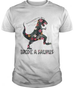 Guys Trex bride a saurus shirt