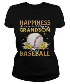 Happiness I When Watching My Grandson Play Baseball ladies tee