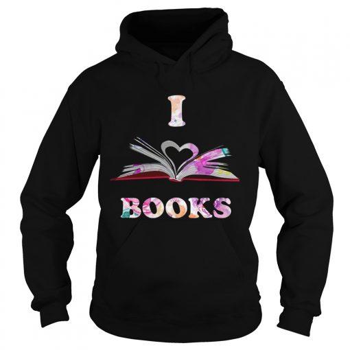 I Love Book hoodie