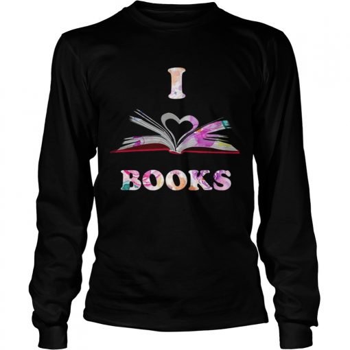 I Love Book longsleeve tee