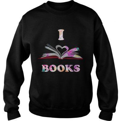I Love Book sweatshirt
