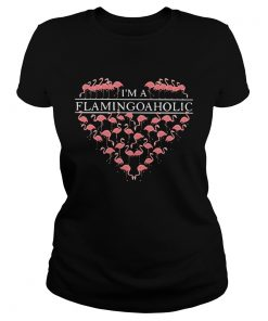 Im a flamingoaholic ladies tee