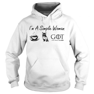 Im a simple woman love coffee cat and Game of Thrones hoodie