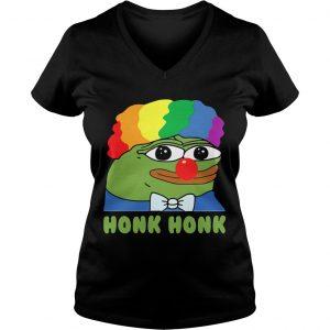 LGBT Clown Pepe Honk Honk Ladies Vneck