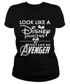 Look like a Disney princess fight like an Avenger ladies tee