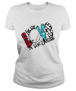 Love For The Baseball Game For Baseball Lover ladies tee