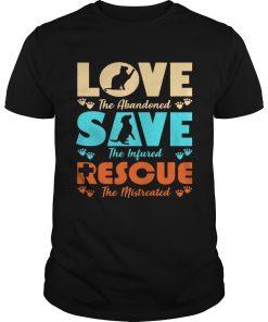 Love Save Rescue Dog Cat Animals Support Men Women Tshirt