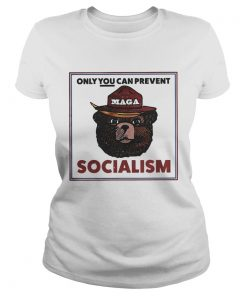 MAGA Bear only you can prevent socialism ladies tee