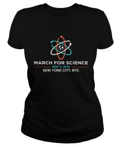 March for Science 2019 NYC New York City ladies tee