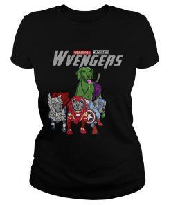 Marvel Avengers Weimaraner Wvengers ladies tee