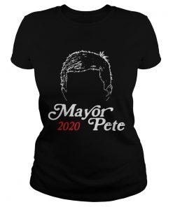 Mayor Pete Buttigieg for President 2020 Funny Hair ladies tee