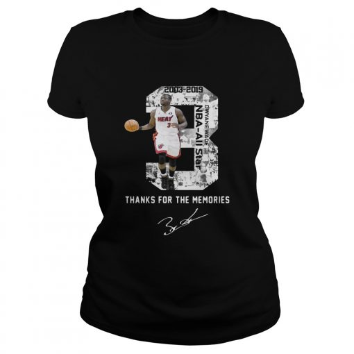 Miami Dwyane Wade Thank You For The Memories ladies tee