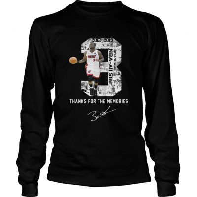 Miami Dwyane Wade Thank You For The Memories longsleeve tee