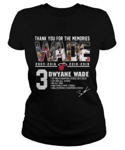 Miami Heat Dwyane Wade Thank You For The Memories ladies tee