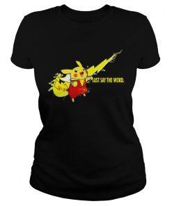 Nike Shazam Pikachu just say the word ladies tee
