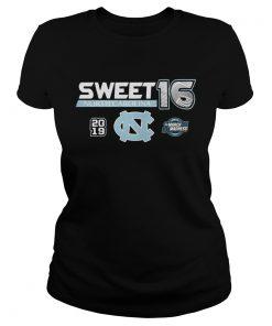 North Carolina Tar Heels 2019 NCAA Basketball Tournament March Madness Sweet 16 ladies tee