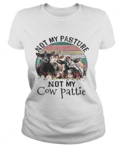 Not my pasture not my cow pattie retro ladies tee