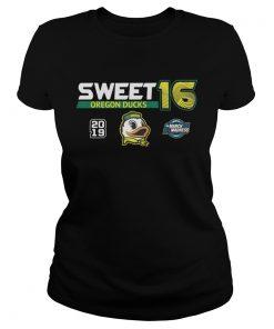 Oregon Ducks 2019 NCAA Basketball Tournament March Madness Sweet 16 ladies tee
