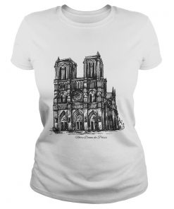 Pray For NotreDame Cathedral ladies tee