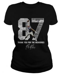 Rob Gronkowski 87 Thank you for the memories signature ladies tee