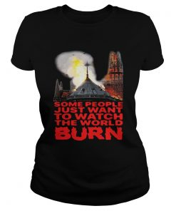 Some People Just Want To Watch The World Burn ladies tee