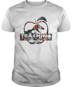 Teaching is a walk in the park Jurassic Park floral shirt