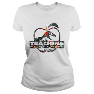 Teaching is a walk in the park Jurassic Park floral ladies tee