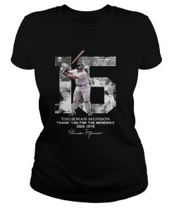 Thurman Munson thank you for the memories 1969 1979 signature ladies tee