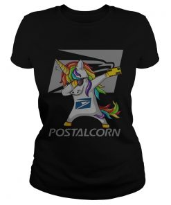 Unicorn Dabbing postalcrn ladies tee