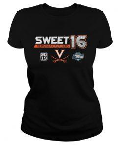 Virginia Cavaliers 2019 NCAA Basketball Tournament March Madness Sweet 16 ladies tee