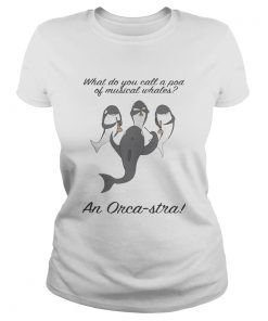 What do you call a pod of musical whales and OrcaStra ladies tee