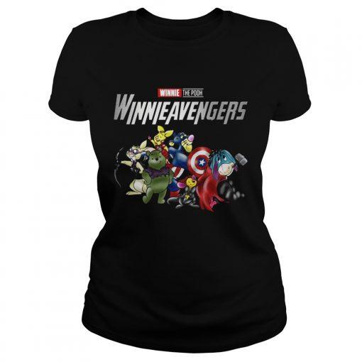 Winnieavengers Winnie the pooh Avengers ladies tee