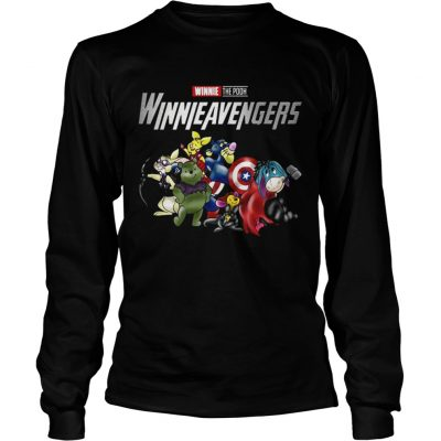Winnieavengers Winnie the pooh Avengers longsleeve tee
