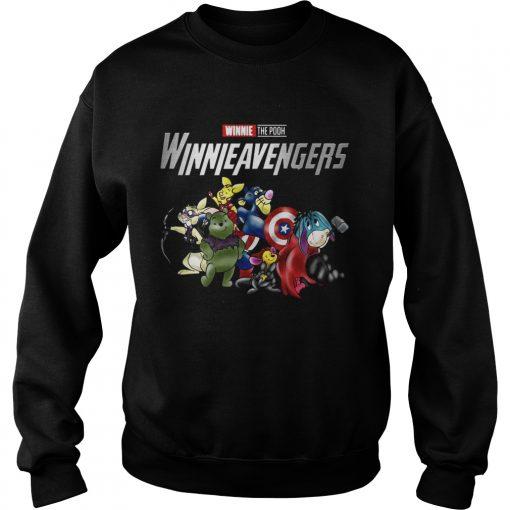 Winnieavengers Winnie the pooh Avengers sweatshirt