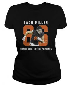 Zach Miller thank you for the memories ladies tee