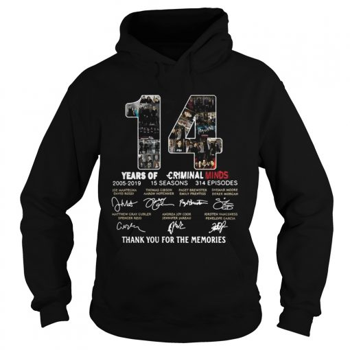 14 Years of Criminal Minds 20052019 thank you for the memories signature hoodie
