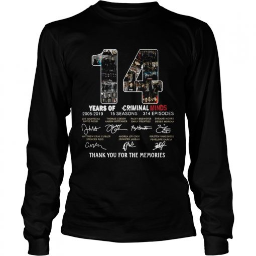 14 Years of Criminal Minds 20052019 thank you for the memories signature longsleeve tee
