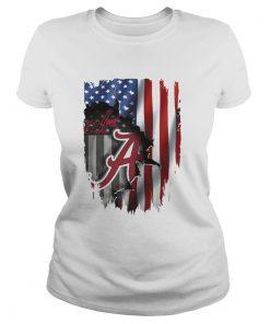 Alabama Crimson Tide flag America ladies tee