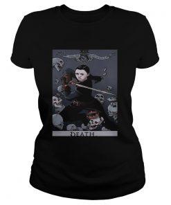 Arya Stark Tarot Card Death Valar Morghulis ladies tee