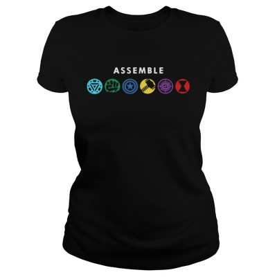 Assemble Marvel Superheroes ladies tee