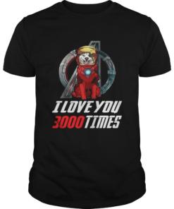 Australian Shepherd Aussie I love you 3000 times Marvel Avengers Endgame  Unisex