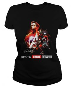 Avengers Endgame Tony Stark I Love you three Thousand ladies tee