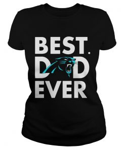 Best Dad Ever Carolina Panthers Fathers Day ladies tee